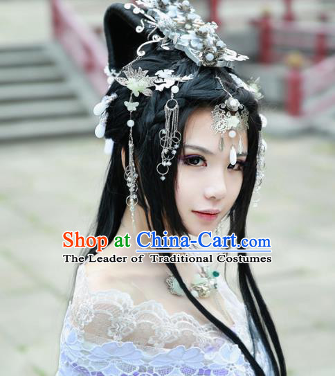 Chinese Traditional Handmade Hair Accessories Step Shake Ancient Hairpins Complete Set for Women