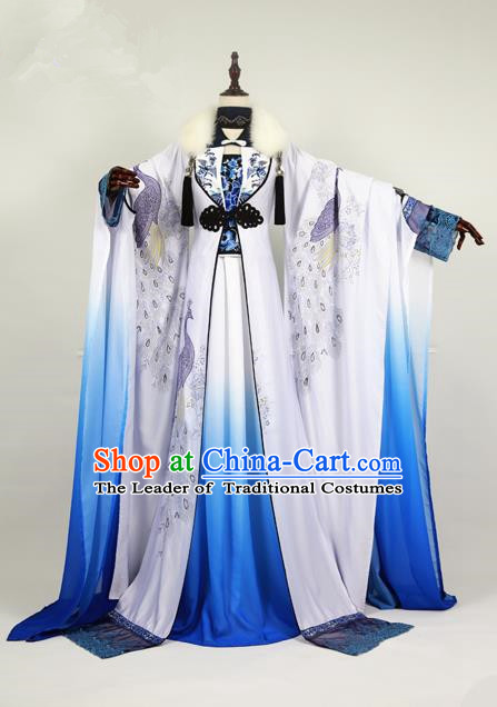 Chinese Ancient Cosplay Swordswoman Costume Ming Dynasty Nobility Lady Embroidered Hanfu Dress for Women