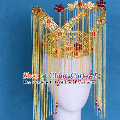 Chinese Ancient Handmade Palace Phoenix Coronet Traditional Hair Accessories Xiuhe Suit Hairpins for Women