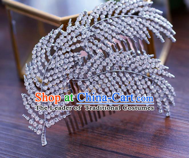 Handmade Wedding Hair Accessories Crystal Hair Comb for Women