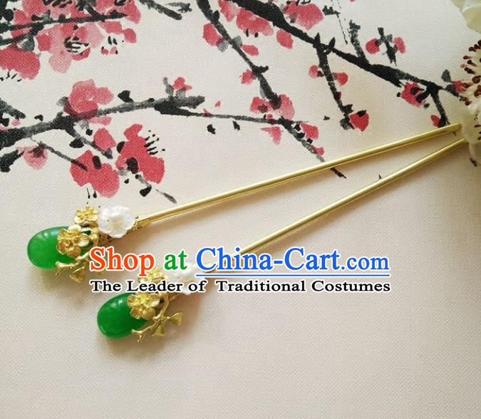 Chinese Ancient Handmade Hanfu Hair Clip Hair Accessories Classical Brass Hairpins for Women