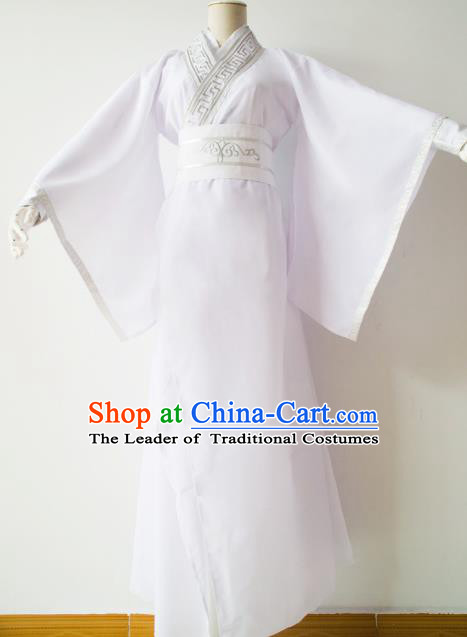 Chinese Ancient Cosplay Scholar Embroidered Costume Han Dynasty Nobility Childe Swordsman Clothing for Men