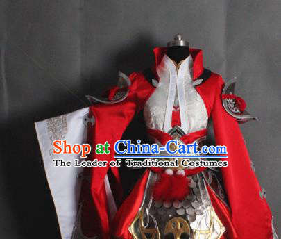 Chinese Traditional Ancient Swordswoman Embroidered Costume and Boots for Women