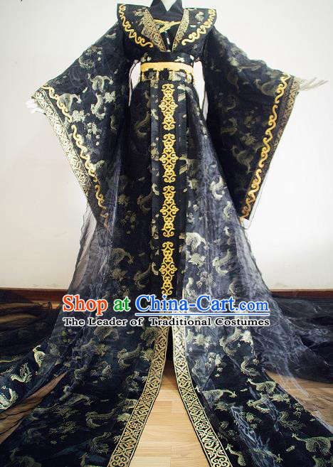 Chinese Ancient Cosplay Royal Highness Embroidered Costume Han Dynasty Swordsman Clothing for Men