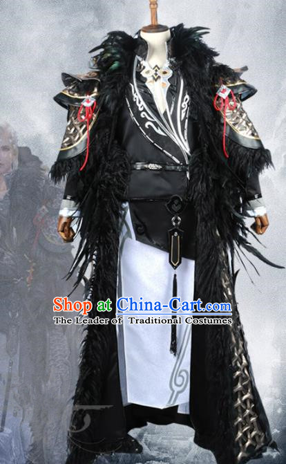Chinese Ancient Cosplay General Warrior Costume Swordsman Clothing for Men