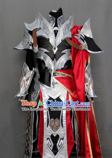 Chinese Ancient General Warrior Costume Body Armor Cosplay Swordsman Clothing for Men