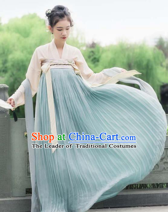 Chinese Traditional Tang Dynasty Nobility Lady Costumes Ancient Court Maid Clothing for Women