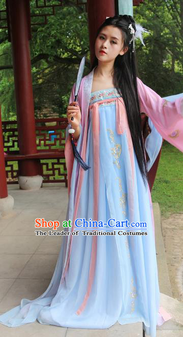 Chinese Traditional Tang Dynasty Imperial Concubine Hanfu Dress Ancient Fairy Clothing for Women