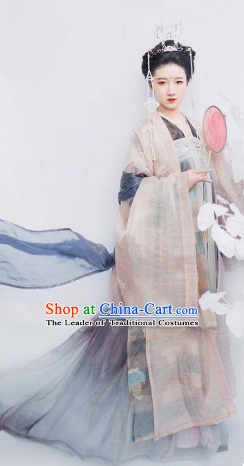 Chinese Ancient Imperial Concubine Hanfu Dress Tang Dynasty Maidenform Embroidered Costumes for Women