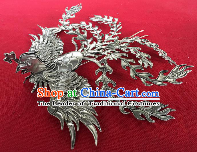 Chinese Traditional Miao Nationality Phoenix Hair Clip Hair Accessories Hairpins Headwear for Women