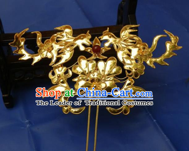 Traditional Chinese Miao Nationality Hanfu Phoenix Hairpins Hair Accessories for Women