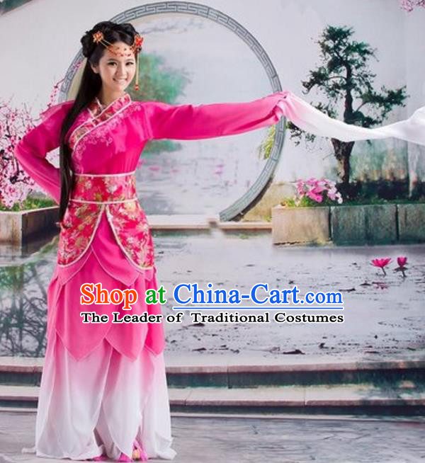 Traditional Chinese Ancient Dance Costume Tang Dynasty Palace Lady Hanfu Dress for Women