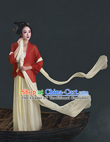 Chinese Ancient Song Dynasty Young Lady Nobility Matron Costumes for Women