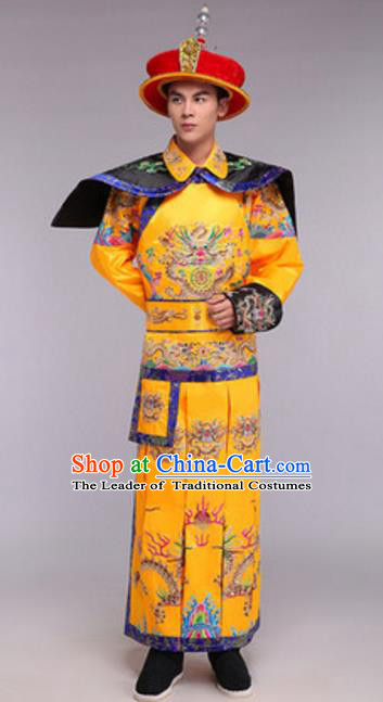 Traditional Chinese Ancient Emperor Costume Qing Dynasty Emperor Imperial Robe for Men