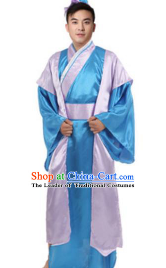 Traditional Chinese Ancient Costume Song Dynasty Legend of the White Snake Xu Xian Historical Clothing and Headpiece Complete Set