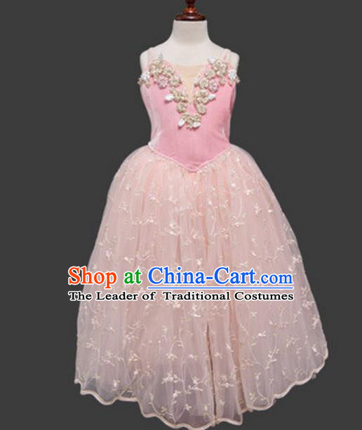 Top Grade Ballet Dance Costume Pink Dress Ballerina Dance Tu Tu Dancewear for Women