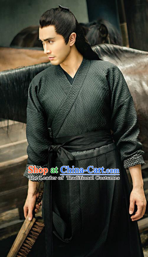 Chinese Ancient Swordsman Clothing Legend of Fu Yao Knight-errant Historical Costume for Men