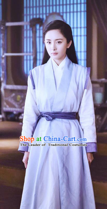 Chinese Ancient Swordswoman Hanfu Dress Han Dynasty Female Knight-errant Historical Costume