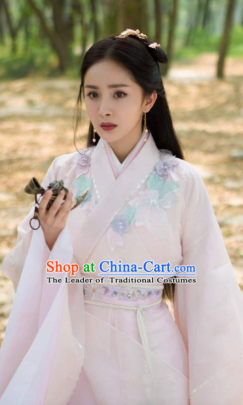 Chinese Ancient Nobility Lady Embroidered Hanfu Dress Han Dynasty Princess Historical Costume for Women