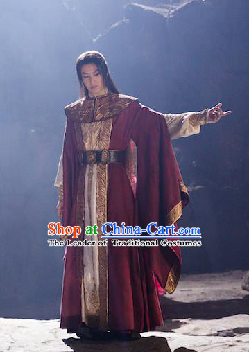 Chinese Ancient Swordsman Clothing Nobility Childe Knight Historical Costume for Men