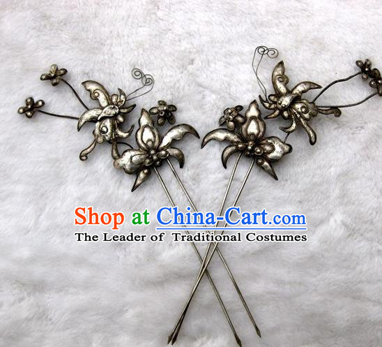 Chinese Traditional Miao Nationality Hair Clip Hair Accessories Butterfly Hairpins Headwear for Women