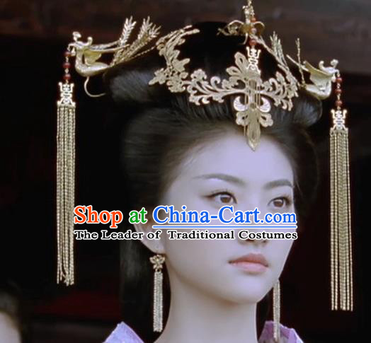 Chinese Traditional Miao Nationality Hairpins Queen Hair Accessories Complete Set for Women