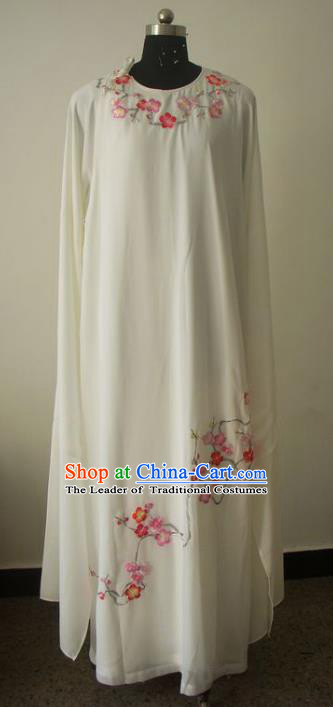 Chinese Traditional Beijing Opera Embroidered Wintersweet Costumes China Peking Opera Niche Silk Robe for Adults