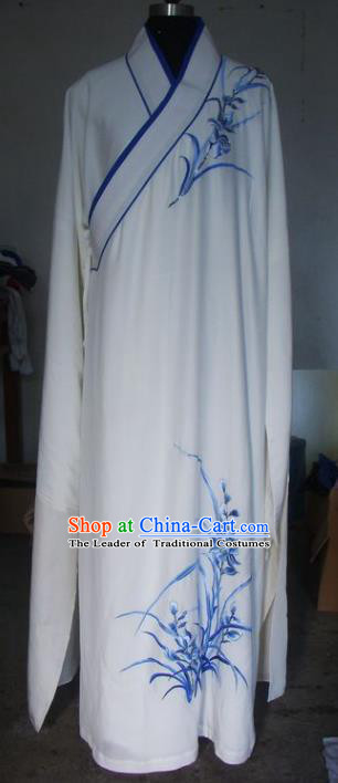 Chinese Traditional Beijing Opera Niche Costumes China Peking Opera Printing Orchid Robe for Adults