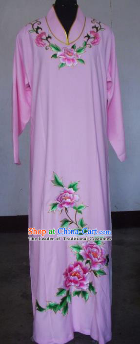 Chinese Traditional Beijing Opera Niche Costumes China Peking Opera Embroidered Peony Clothing for Adults