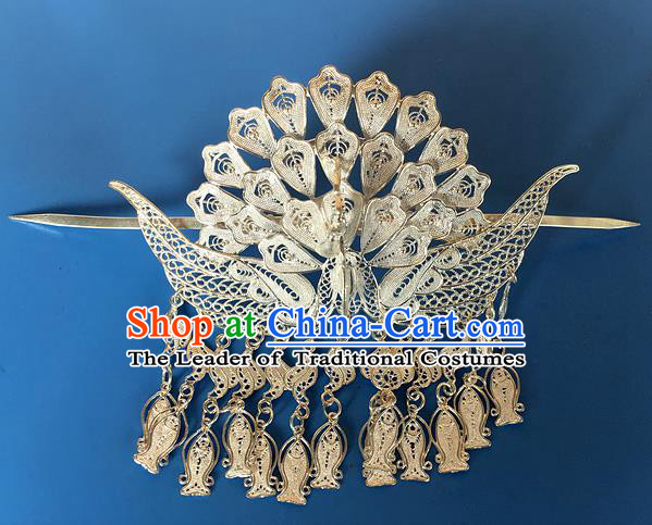 Chinese Traditional Ancient Princess Phoenix Hairdo Crown Hairpins Hair Accessories for Women