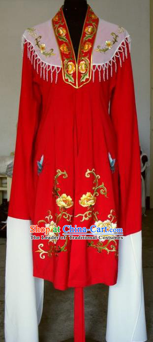 Chinese Traditional Beijing Opera Actress Embroidered Red Cape China Peking Opera Imperial Concubine Costumes for Adults