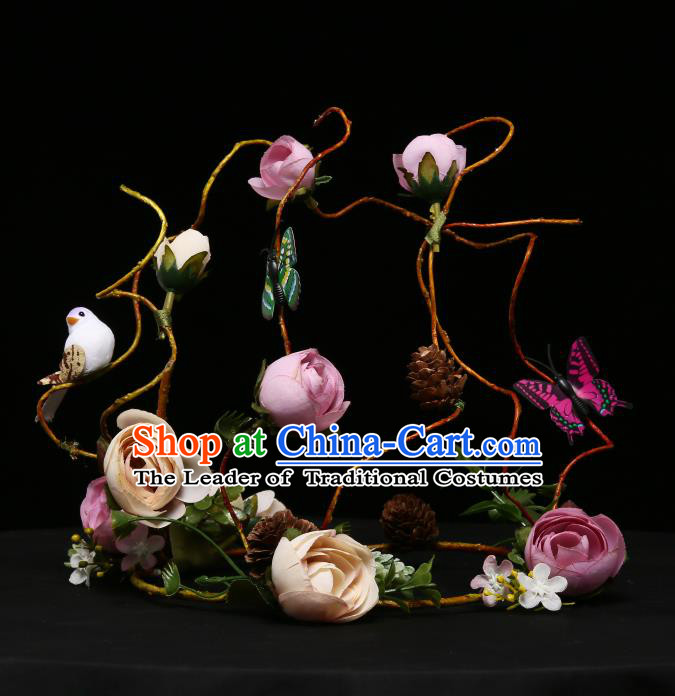 Children Modern Dance Hair Accessories Stage Performance Flowers Hair Clasp for Kids