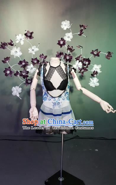 Top Grade Models Show Costume Stage Performance Bikini Dress and Flowers Wings for Women