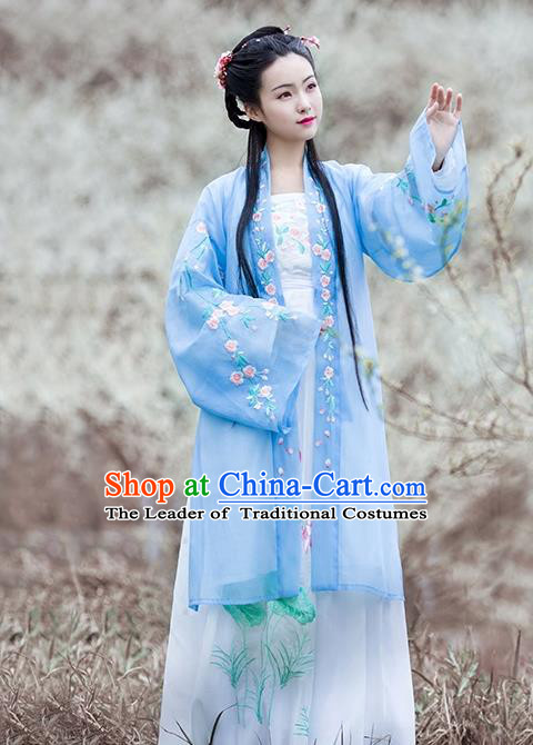 Ancient Chinese Song Dynasty Rich Female Hanfu Dress Embroidered Costumes for Women