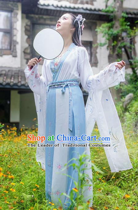 Traditional Chinese Ancient Peri Hanfu Dress Song Dynasty Princess Costumes for Rich Women