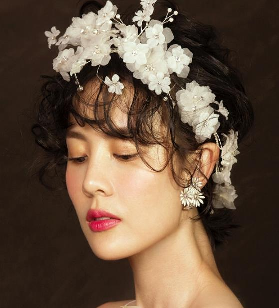Top Grade Wedding Bride Hair Accessories Princess Flowers Hair Clasp Headwear for Women