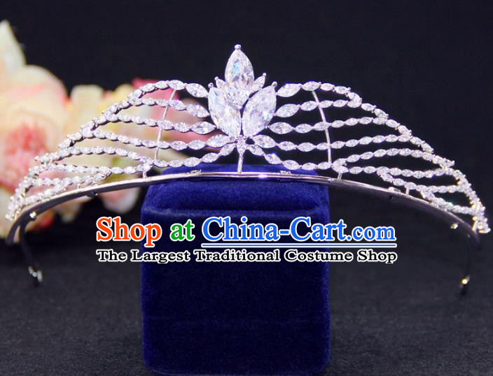 Top Grade Wedding Bride Hair Accessories Baroque Queen Crystal Royal Crown for Women