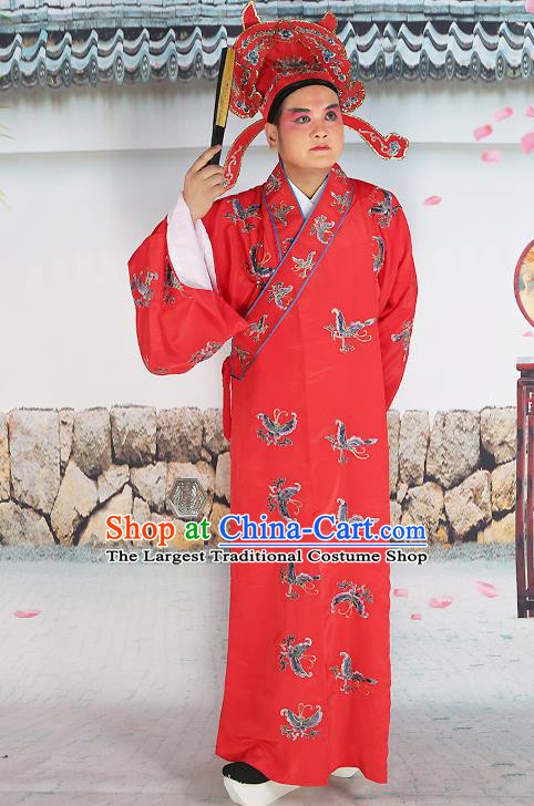 Professional Chinese Peking Opera Costume Traditional Peking Opera Niche Butterfly Red Robe and Hat for Adults