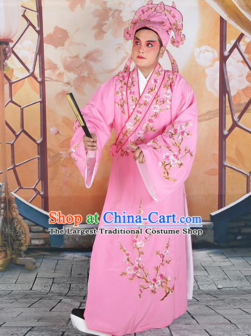 Professional Chinese Peking Opera Niche Costume Traditional Peking Opera Plum Blossom Robe and Hat for Adults
