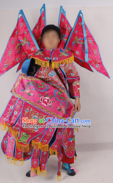 Professional Chinese Peking Opera Blues Female General Embroidered Costumes for Adults