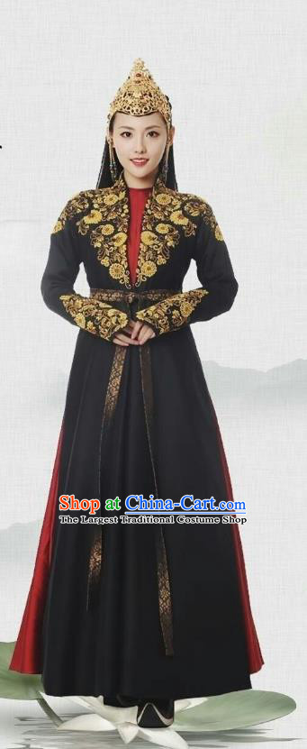 Chinese Ancient Story of Yanxi Palace Qing Dynasty Minority Princess Costumes and Headpiece Complete Set