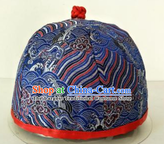 Chinese Ancient Style Handmade Qing Dynasty Hat for Sale