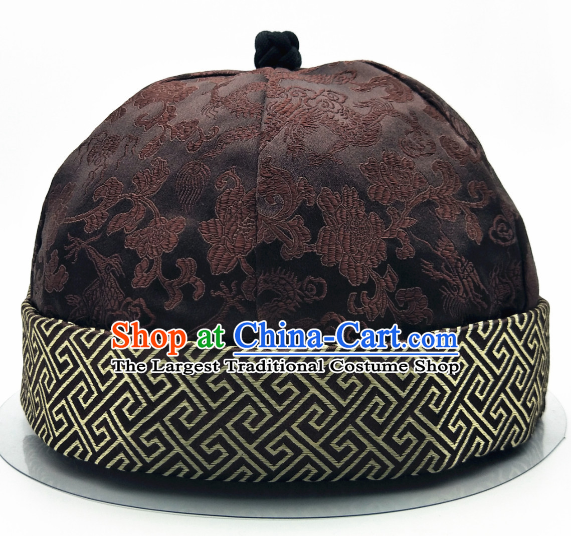 Chinese Ancient Style Handmade Qing Dynasty Official Family Hat Wedding Hat for Men