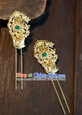 Chinese Handmade Wedding jade Phoenix Coronet Hair Accessories Ancient Tassel Hairpins Complete Set for Women