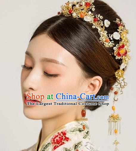 Chinese Handmade Wedding Hair Accessories Ancient Hair Clasp Hairpins Complete Set for Women