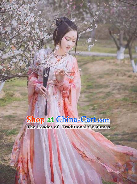 Traditional Chinese Tang Dynasty Princess Costume Ancient Palace Lady Hanfu Dress for Women