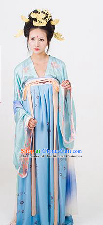 Chinese Tang Dynasty Imperial Concubine Hanfu Dress Ancient Palace Embroidered Costumes for Women