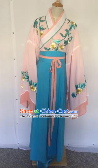 Chinese Ancient Peking Opera Actress Embroidered Dress Traditional Beijing Opera Diva Costumes for Adults