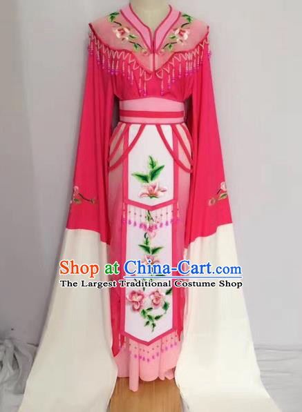 Traditional Chinese Peking Opera Princess Fairy Rosy Dress Beijing Opera Diva Costume for Adults
