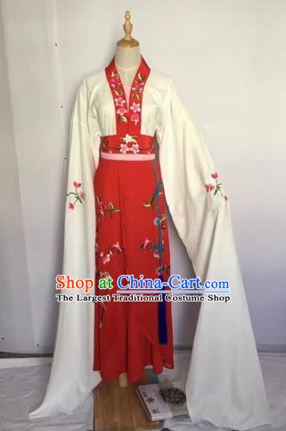 Chinese Huangmei Opera Fairy Red Dress Traditional Beijing Opera Diva Costume for Adults